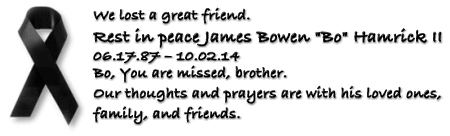 R.I.P. James Bowen *Bo* Hamrick