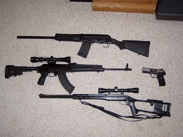 My whole family of Firearms
