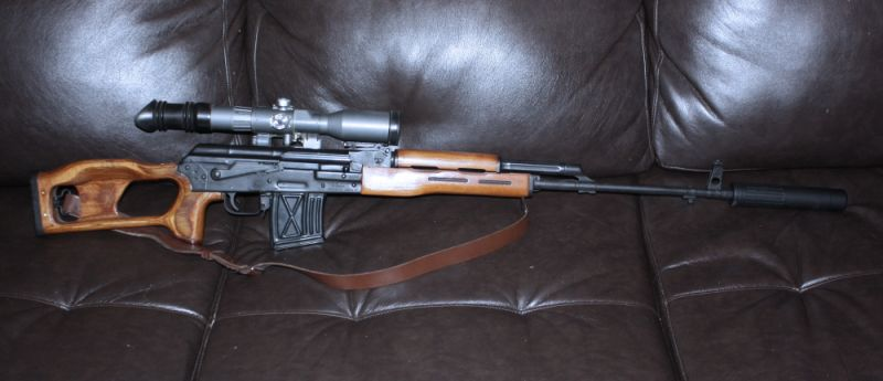 PSL with RSA adjustable trigger, 8X scope and AAC 762 SDN-6 Silencer.