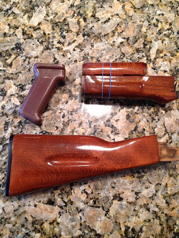 Bulgarian Ak 74 Wood Furniture Set Firearm Parts Accessories Wts Wtt Forum Saiga
